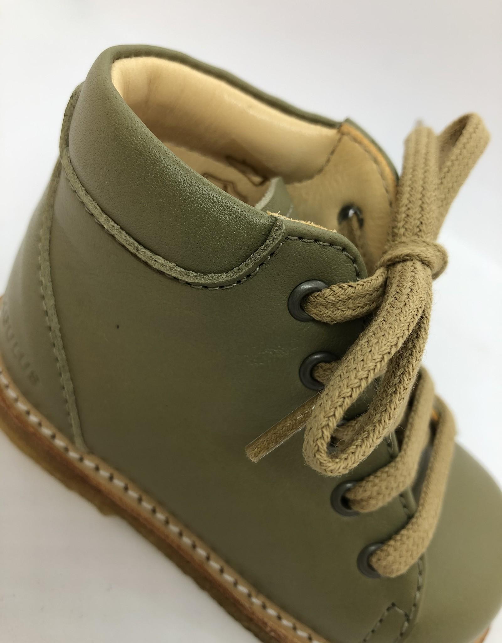 Angulus 2361-101 starter shoe with laces khaki