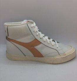 Diadora melody mid leather dirty white/peach parfait