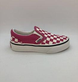 Vans UY classic slip-on checkerboard roze