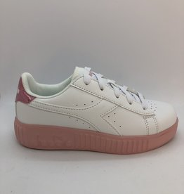 Diadora game step GS white/pink peachskin
