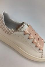 Banaline 21122032 sneaker wit pied de poul