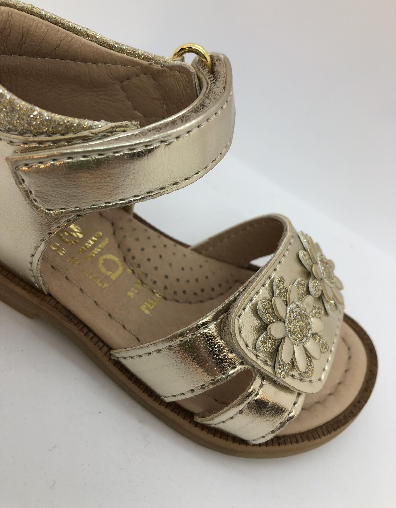 Lunella 20606 sandaal platino bloem