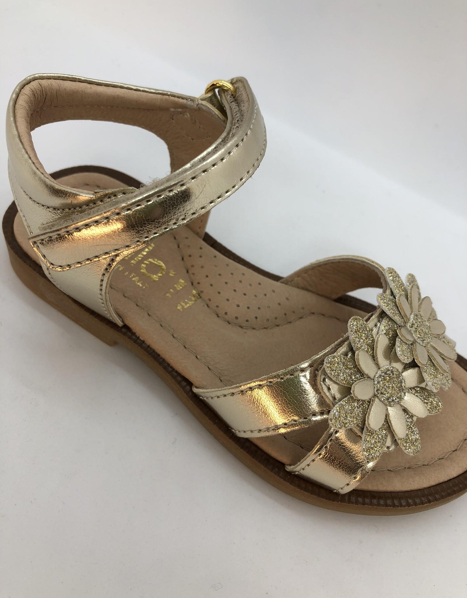 Lunella 20738 sandaal platino bloem