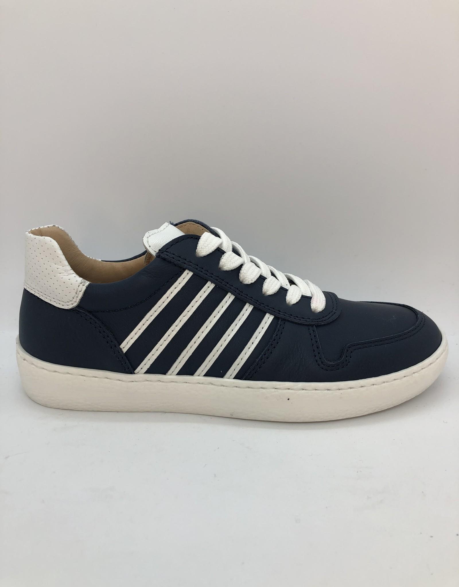 Lunella 21325 blauwe sneaker wit accent