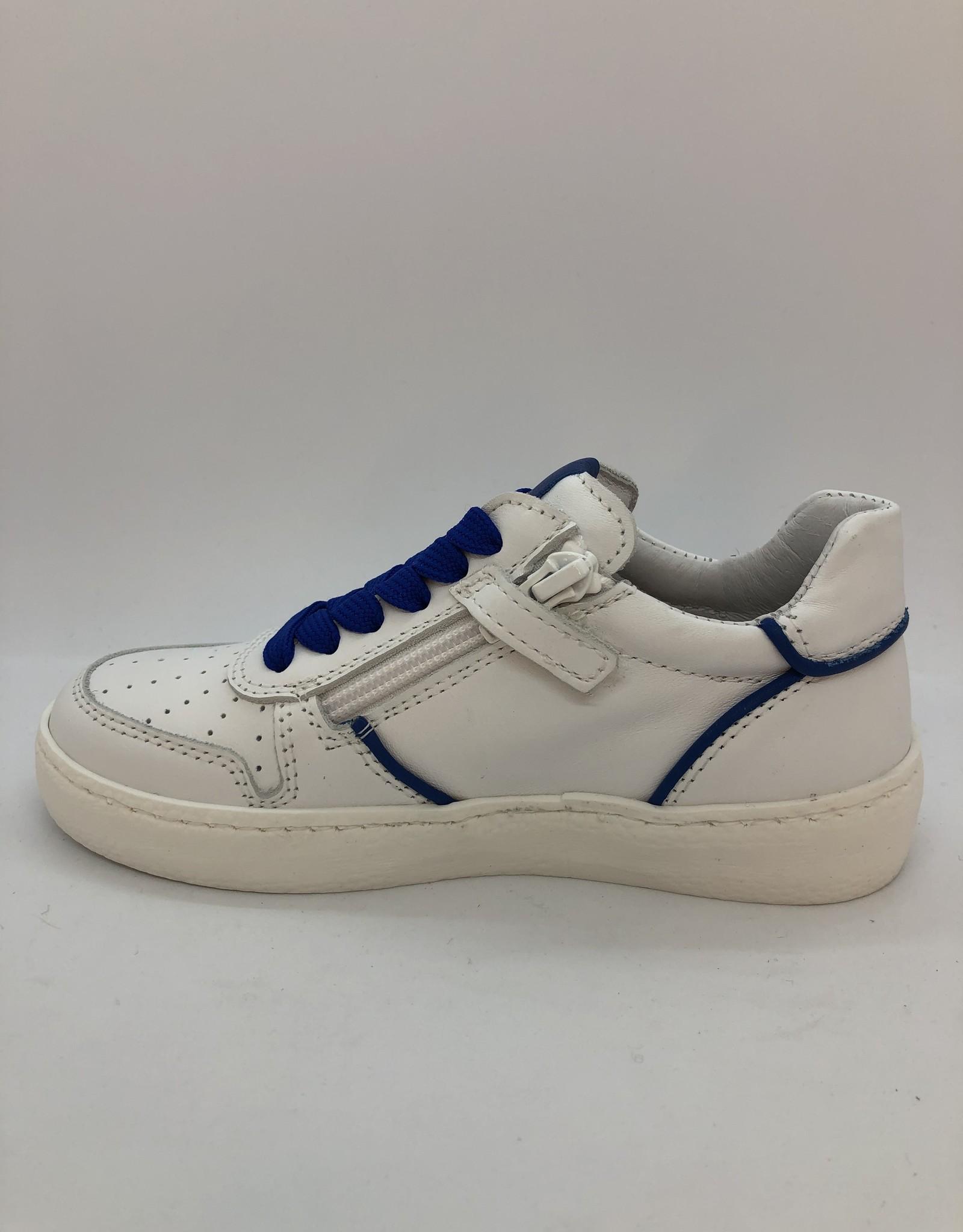 Lunella 21327 witte sneaker blauw accent