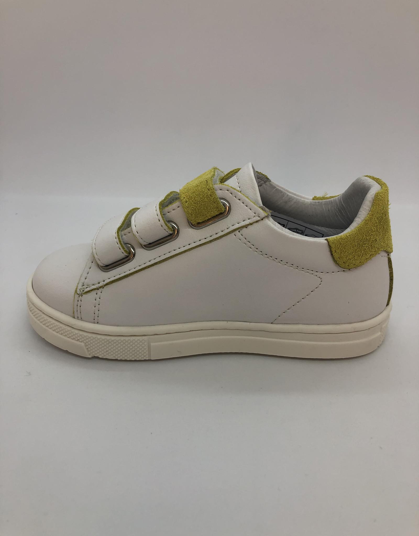 La Triboo 8772 witte sneaker velcro lemon