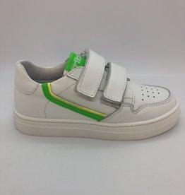 La Triboo T8879 witte sneaker velcro groen/geel