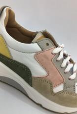 Ocra D370 sneaker beige roze groen