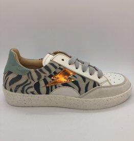 Ocra D402 sneaker print bliksem veter/rits