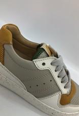 Ocra D405 grijze sneaker oker accent  veter/rits
