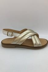 Ocra D441 sandaal goud wit