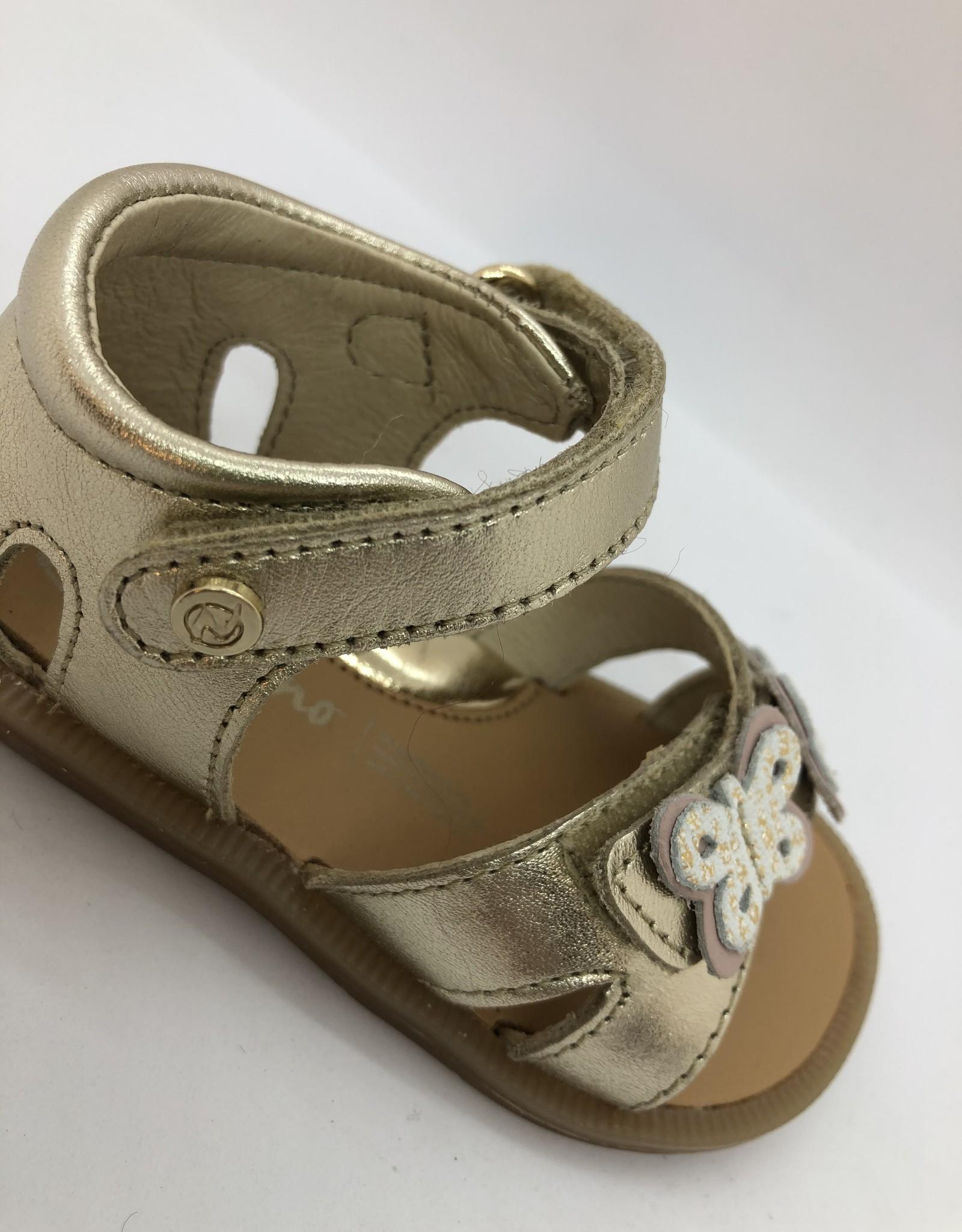 Naturino Imma metallic platinum sandaal