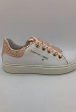 Banaline 21122055 witte sneaker peche veter/rits