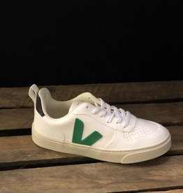 VEJA small V-10 laces white emeraude black