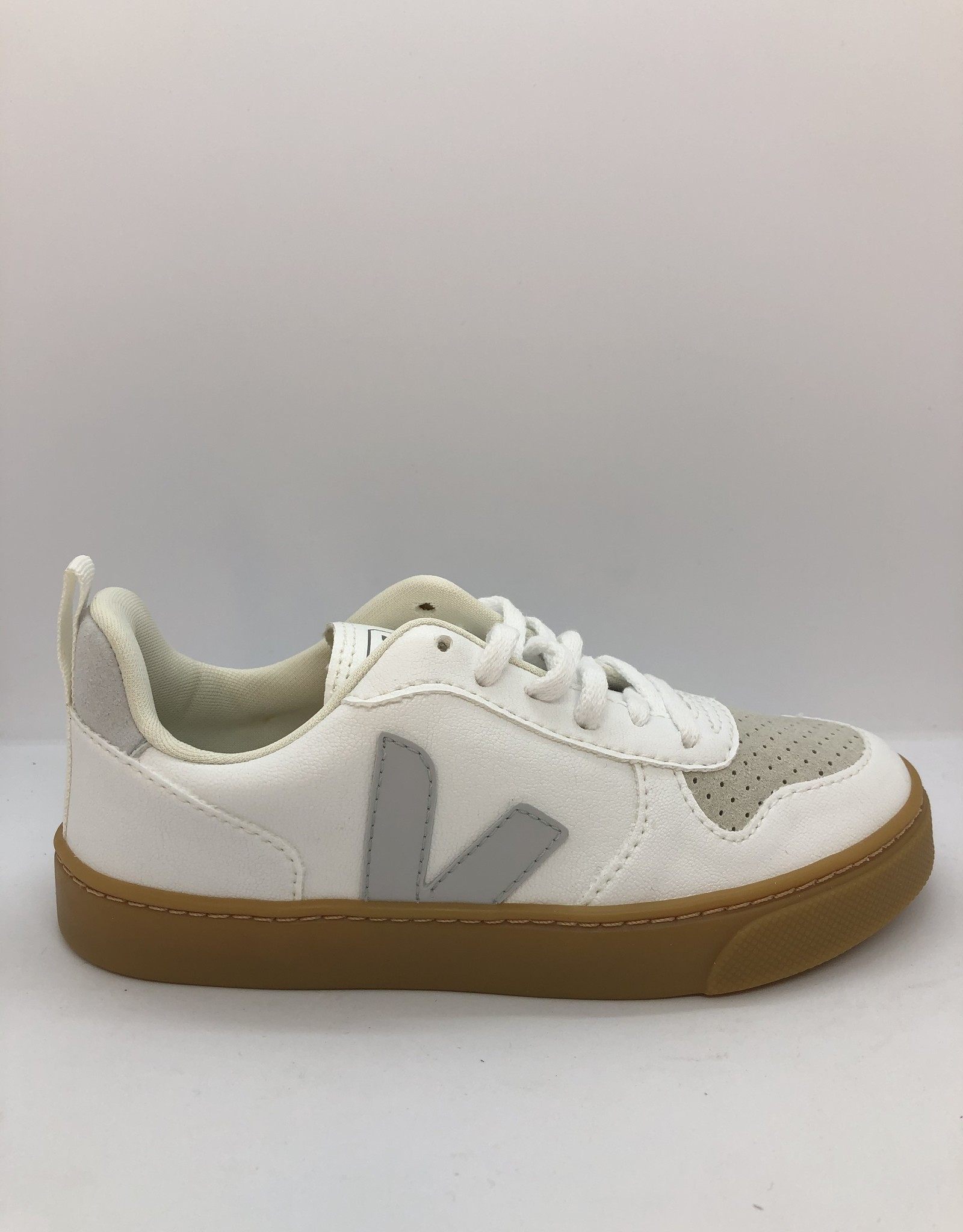 VEJA small V-10 laces white pearl natural