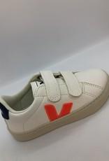 VEJA small esplar velcro white orange fluo cobalt