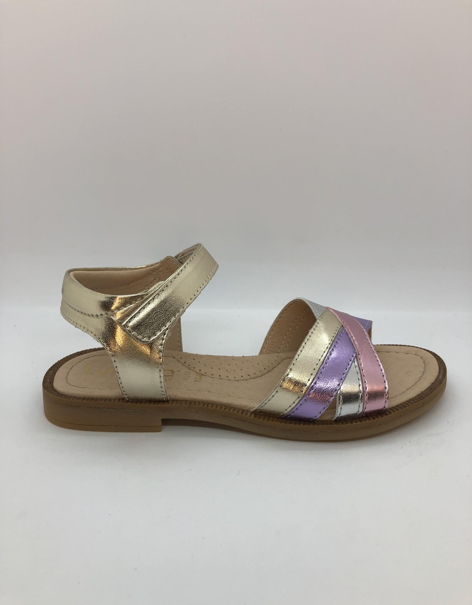 Lunella 21378 sandaal platino multi