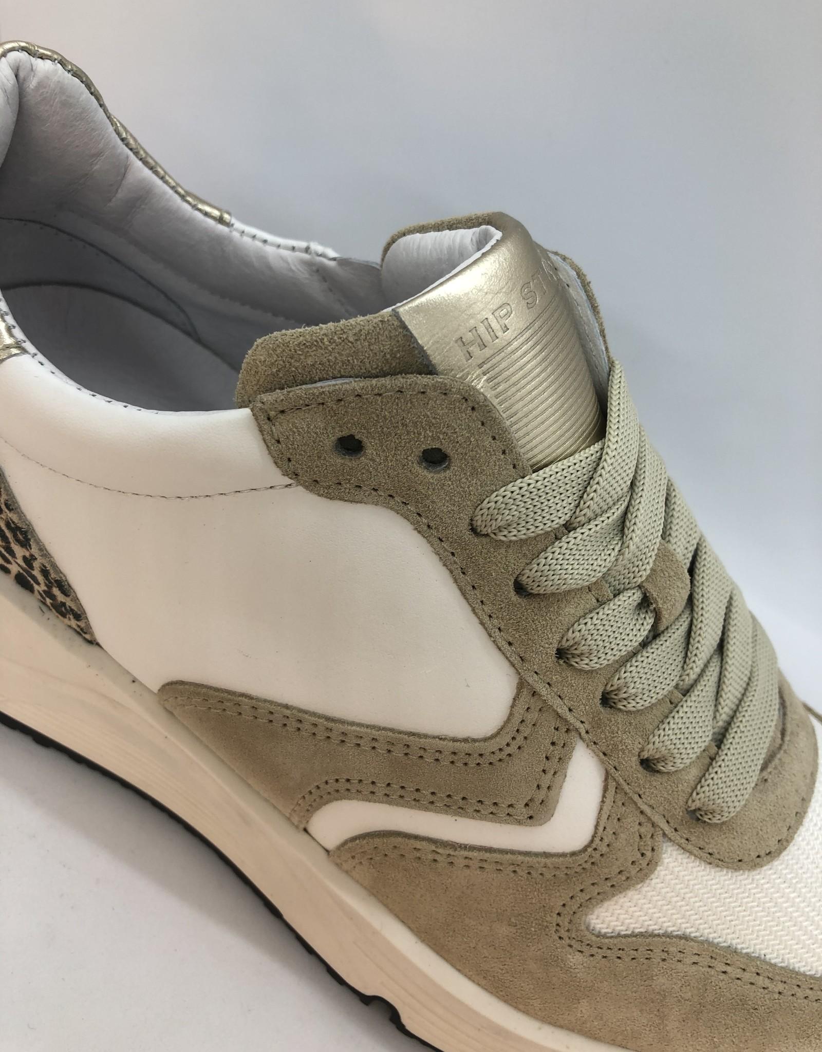 HIP H1797 sneaker leopard veter/rits