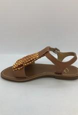 Gallucci J00930 sandaal geel bolletjes papaya