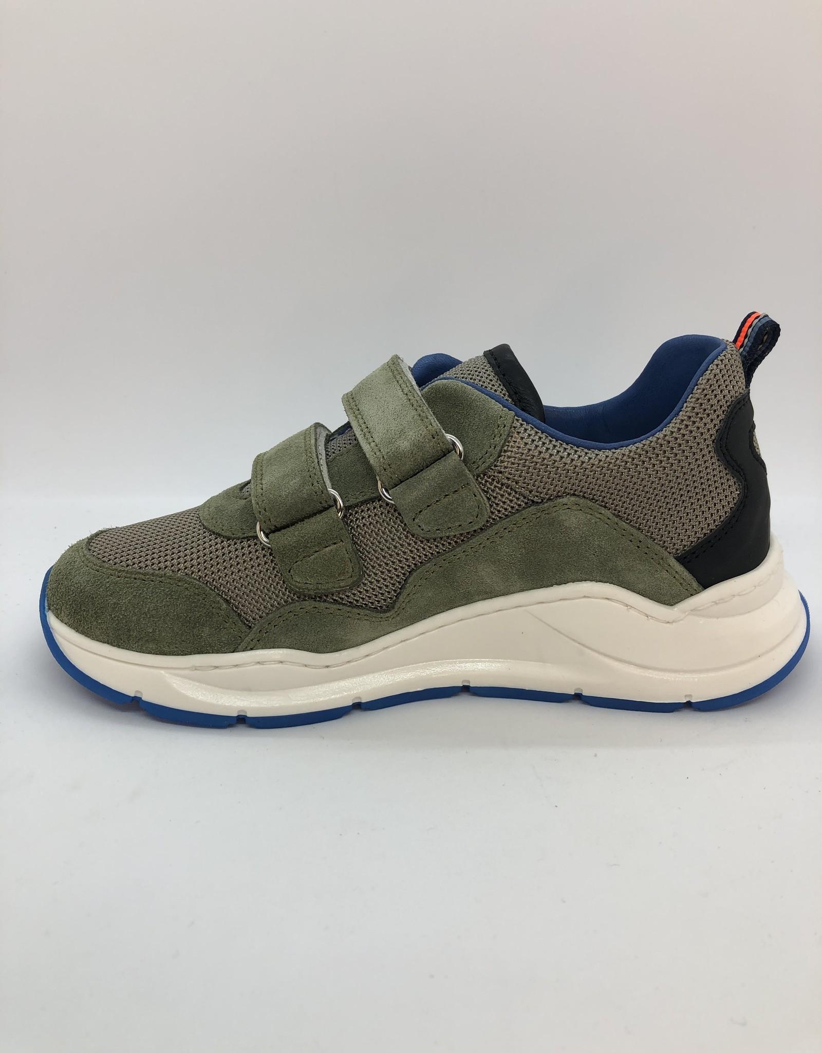 Romagnoli 7524 sneaker kaki-oranje-groen