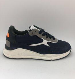 HIP H1700 blauwe sneaker veter/rits
