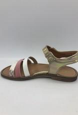 Rondinella 0963 sandaal goud roze wit print