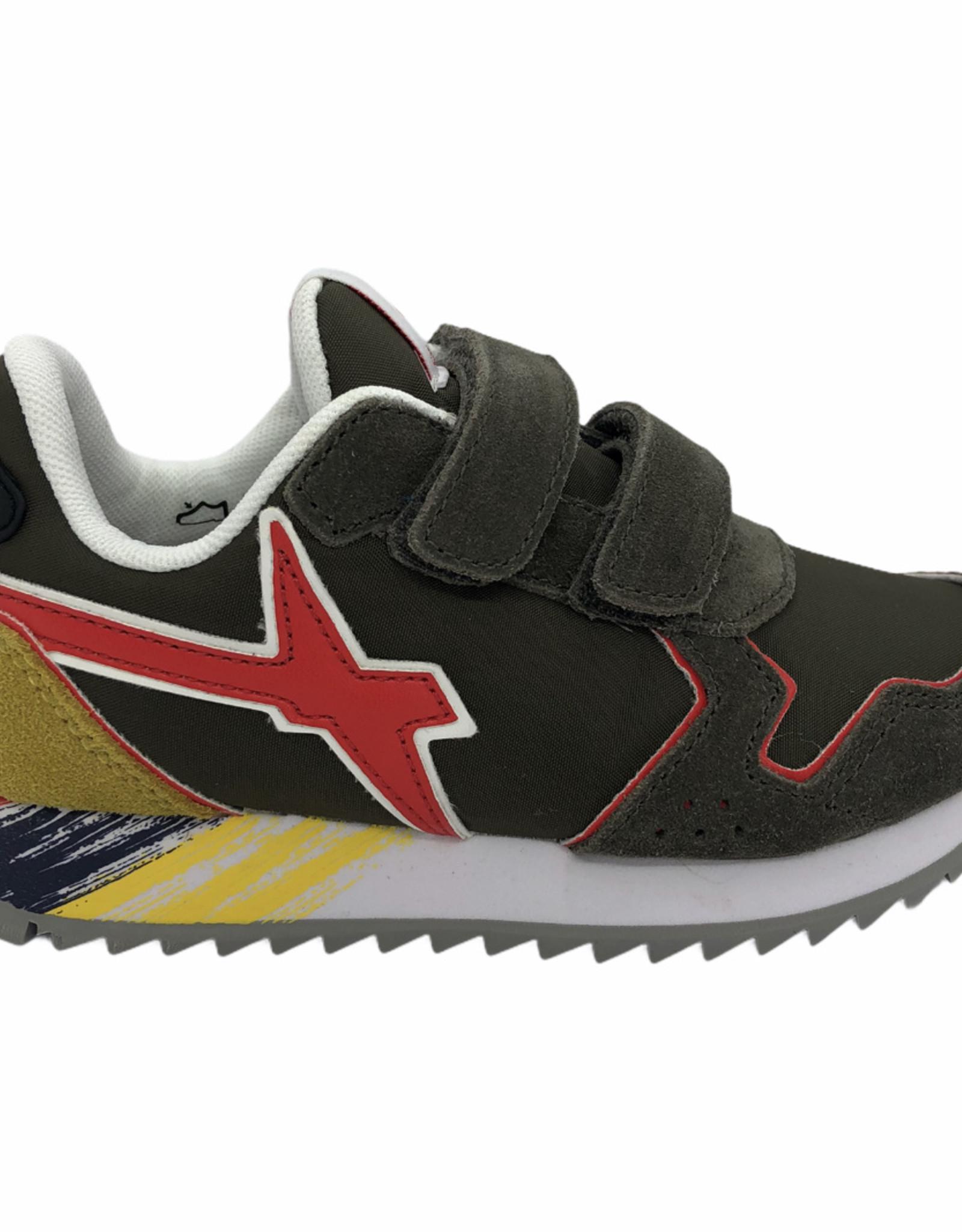 W6YZ sneaker militare-red velcro
