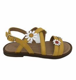 Romagnoli 7788 sandaal geel bloem