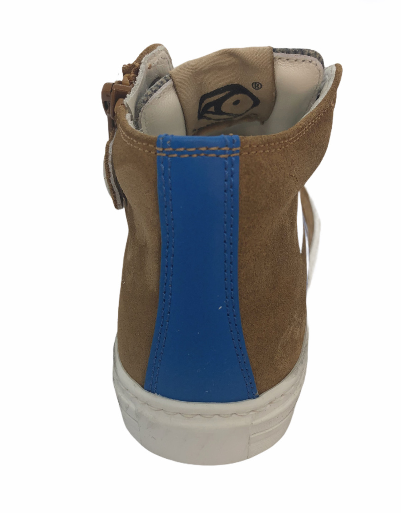 Rondinella 11840-1 hoge sneaker bruin blauw