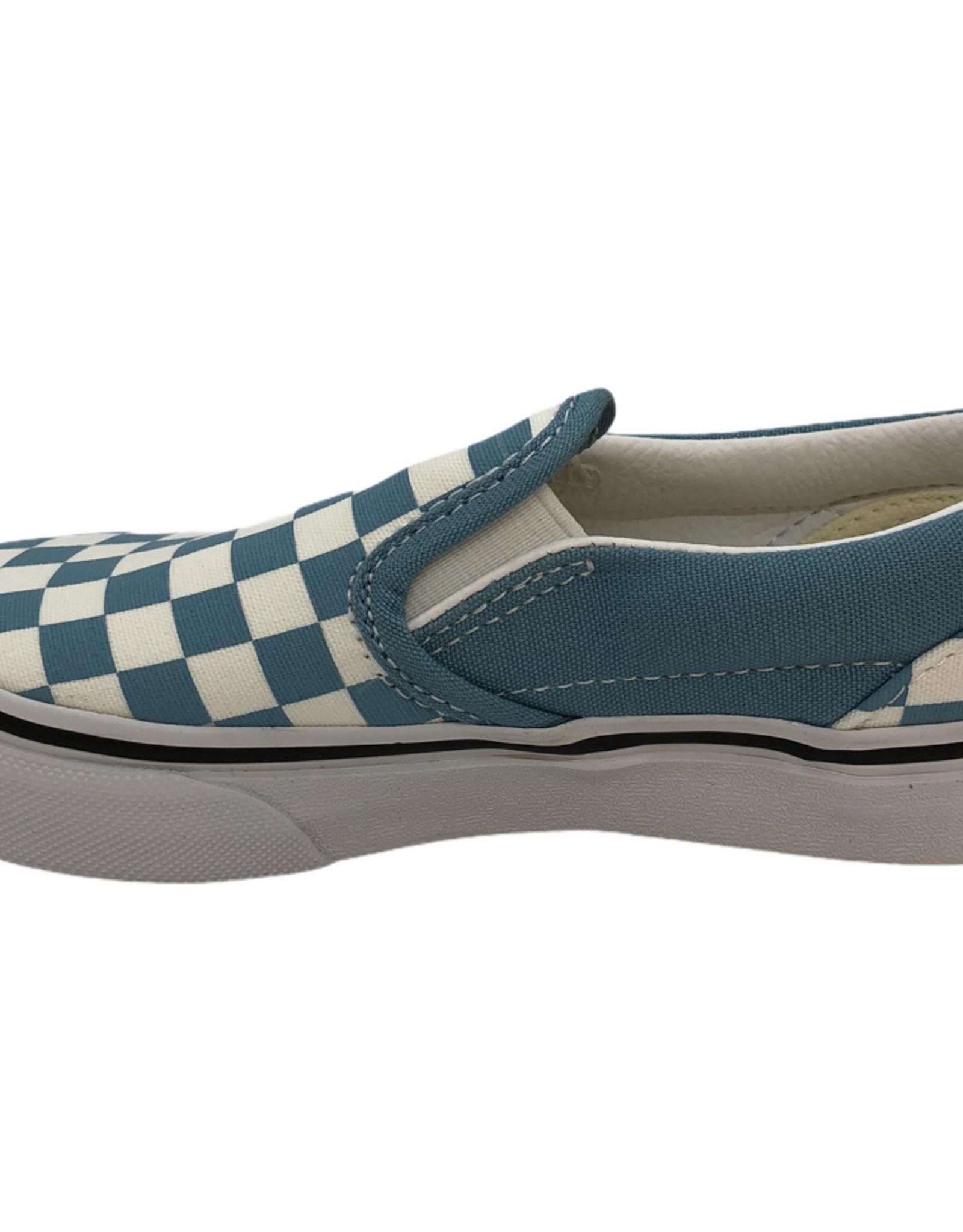 Vans UY classic slip-on checkerboard lichtblauw