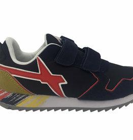 W6YZ sneaker sole sbrushed navy-red velcro