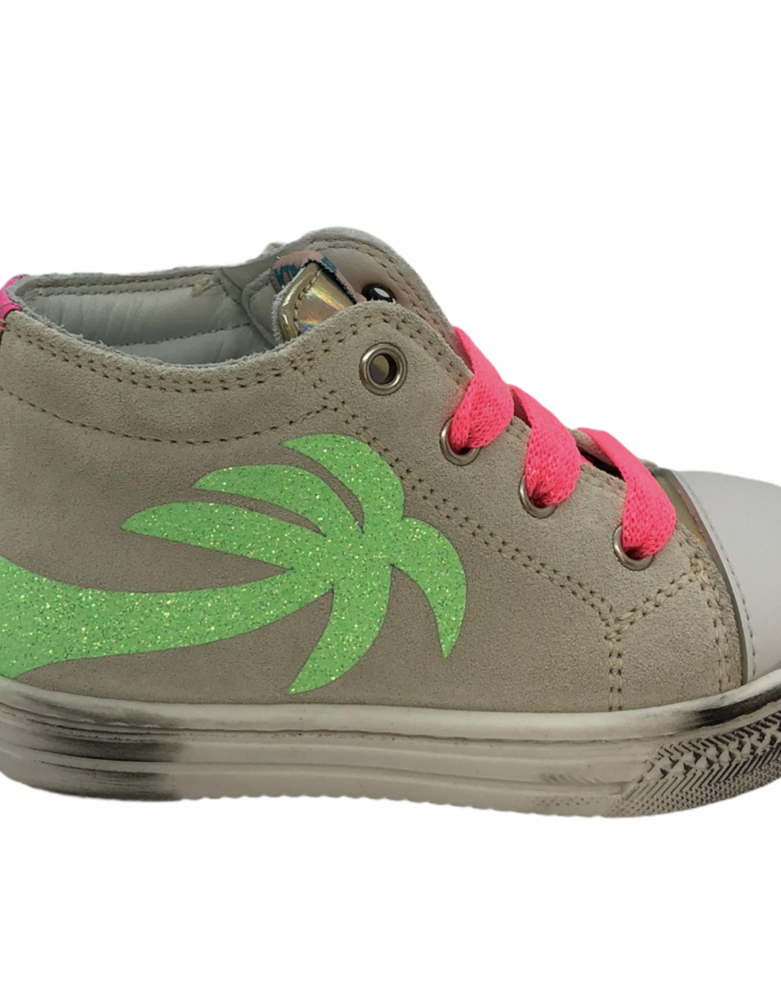 Rondinella 4695-2 sneaker beige groene palmboom