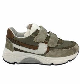 Rondinella 11714 sneaker beige/groen/bruin velcro