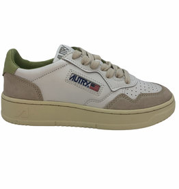 Autry leather/suede white/nile pastelgroen