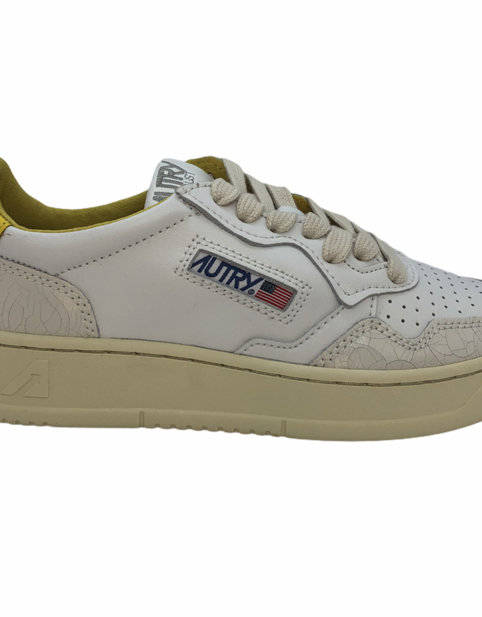 Autry leather crack white/yellow
