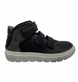 Momino 3731 hoge sneaker zwart grijs velcro