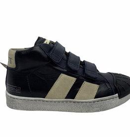 Momino 3136 hoge sneaker velcro navy wit
