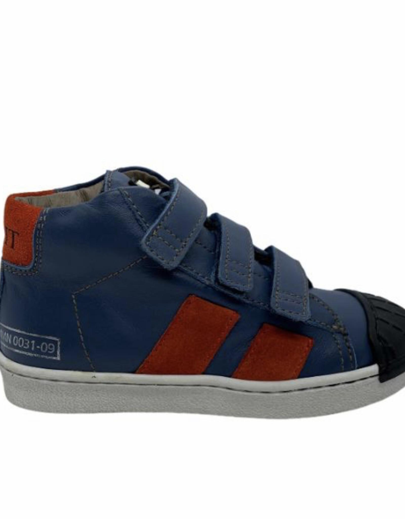 Momino 3136 hoge sneaker velcro blauw rood