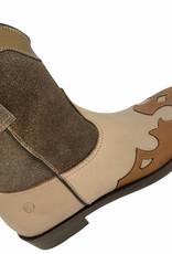 Rondinella 11665-4 cowboy laarsje roze taupe bruin