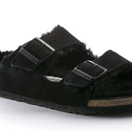 Birkenstock arizona fur shearling black