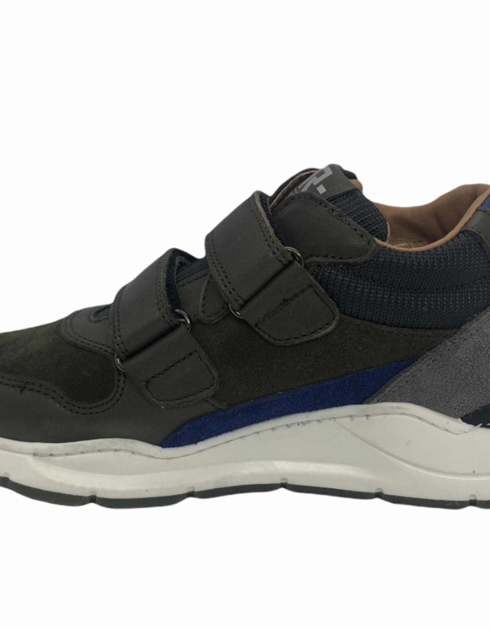 Romagnoli sneaker velcro kaki blauw