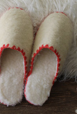 Theluto Frederic pantoffel ecru - rood