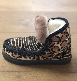 MOU sneaker pony mix & mink fur