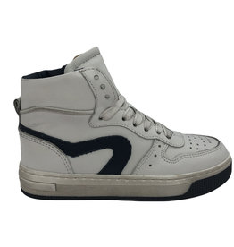 HIP H1301 hoge sneaker wit donker blauw
