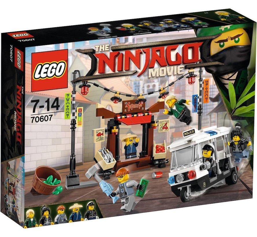 70607 Ninjago Movie NINJAGO achtervolging door de stad