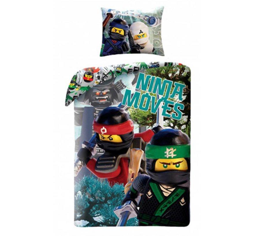 Dekbedovertrek The Ninjago Movie 2-in-1 Ninja Moves