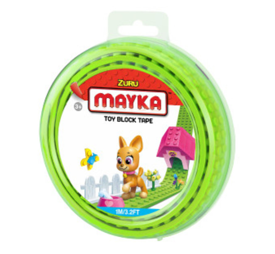 Mayka Toy Block Tape Limegroen