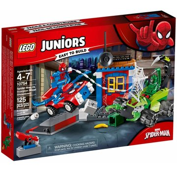 LEGO 10754 Juniors Spider-Man vs. Scorpion straatduel