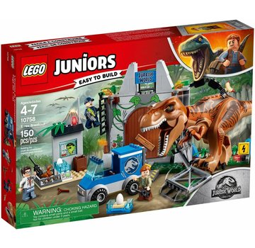 LEGO 10758  Juniors Jurassic World T. rex ontsnapping