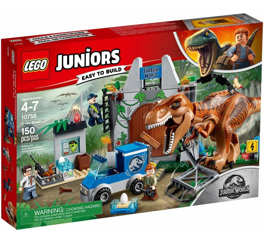 10758  Juniors Jurassic World T. rex ontsnapping